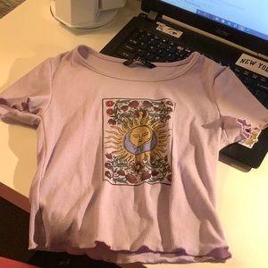 Shein sun/flower print ruffle top!